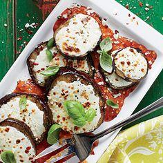 Grilled Eggplant Parmesan with Grilled Tomato Marinara   MyRecipes.com