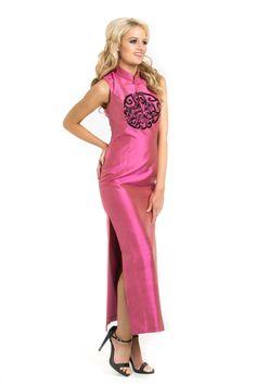 China Rose Kleid in Rosa Schuß Wassermelone von DominiqueMCouture