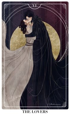 elithien: Reylo Tarot Cards: THE LOVERS Well, cat's out of the bag, here's my newest project! I'll be doing a couple more of these tarot cards ft. reylo because god I love doing these. Kylo Ren/Ben Solo and Rey. Witcher Wallpaper, Art Ancien, Hades And Persephone, Art Graphique, Star Wars Art, Tarot Decks, Oeuvre D'art, Character Art, Fantasy Art