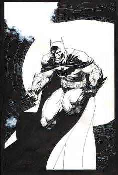 Batman in the Bat Tunnel by Jim Lee - pre-Hush, circa 2000 Comic Art
