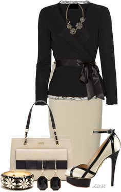 """Ebony, Ivory"" by christa72 on Polyvore Teacher clothes for when I work at the super ritzy prep school"