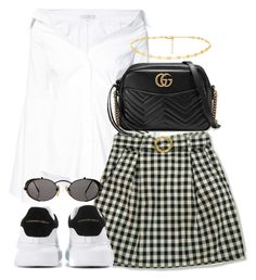 """Untitled #5102"" by theeuropeancloset on Polyvore featuring Caroline Constas, Gucci, Alexander McQueen and Jean-Paul Gaultier"