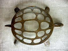 Vintage Elegant Turtle Trivet by PortugueseVintage on Etsy, $26.00