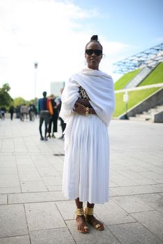 They Are Wearing: Paris Fashion Week - Slideshow- very cool right down to the sandals