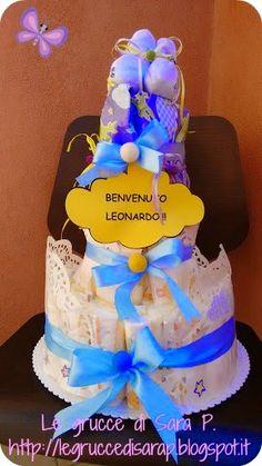 Torta di pannolini per Leonardo