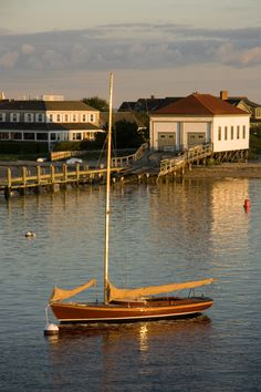 A Nantucket sailboat. #harbor #wooden #Nantucket #Sailing #sail