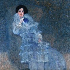 vcrfl:  Gustav Klimt: Portrait of Marie Henneberg (1902)