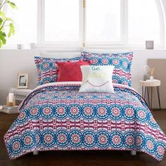 Chic Home Chiko 6 Piece Reversible Duvet Cover Set Bohemian Inspired Geometric Pattern Print Backing Zipper Closure Bed in a Bag Bedding - Sheets Decorative Shams Pillow Included, Twin XL Fuchsia, Pink Full Duvet Cover, Bed Duvet Covers, Comforter Sets, Duvet Cover Sets, King Comforter, Quilt Cover, Pillow Shams, Pillow Cases, Boho Comforters