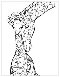 Giraffes Free Printable Coloring Pages For Kids Giraffe Coloring Pages Giraffe Colors Animal Drawings