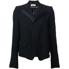 Chloé shawl collar blazer ($2,045) ❤ liked on Polyvore featuring outerwear, jackets, blazers, black, blazer jacket, chloe jacket, shawl jacket, chloe blazer and shawl collar blazer