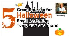 """Great Sources for Halloween Email Marketing Templates and more by Jeff Ginsberg @ Dad_FTW"""" Email Design, Email Marketing, Cape, Treats, Templates, Sayings, Halloween, Mantle, Sweet Like Candy"""