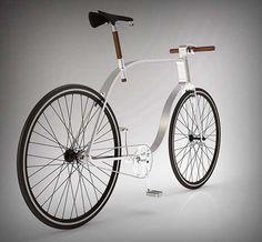 """El diseñador húngaro Kisszsombor ha creado la """"Kzs Cycle"""", un concepto de bicicleta urbana minimalista. La idea básica era combinar una serie de líneas 2D con formas 3D, transformando un diseño plano en un objeto utilizable"""