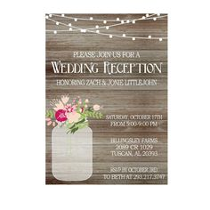 80 best Reception Only Invitations images on Pinterest in 2018 ...