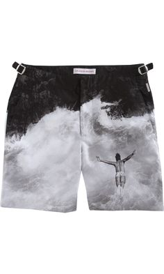 Orlebar Brown Diving Anniversary Print Bulldog Trunks