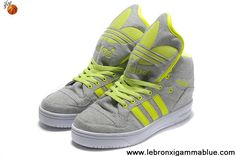 Wholesale Cheap Adidas X Jeremy Scott Big Tongue Shoes Grey Green Shoes Store