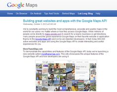 Google Lat Long blog: Official Google blog covering everything to do with Maps and Google Earth. Great Websites, Local Seo, Maps, Earth, Google, Blog, Blue Prints, Blogging