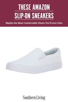 Function meets fashion with slip-on sneakers, which, we're happy to report, are on-trend for 2021. We've sifted through over a hundred pairs of slip-on sneakers on Amazon to provide you with a round-up of the 15 best sneakers. Slip into style in the pair of sneakers that best suits your lifestyle. #amazonfinds #summerfashion #bestsliponshoes #amazonfashion #southernliving Classic Sneakers, Best Sneakers, Slip On Sneakers, Leather Sneakers, Sneakers Fashion, Most Comfortable Shoes, Comfortable Sneakers, Comfy Shoes, Southern Fashion