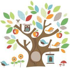 Skip Hop Väggdekaler Treetop Friends | Inredning På väggen | Jollyroom