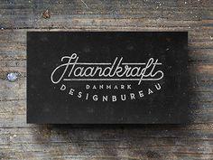 Haandkraft business cards by Jacob Nielsen
