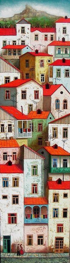 TALE CITY (FABULOS CITY) by David Martiashvili (b1978 Tbilisi, GEORGIA)