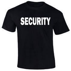 Mens Security T-Shirt Tees Event Staff Club Bouncer Uniform Guard Employee S-3X