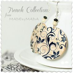 Flourishes French style Earrings from MADEbyMADA