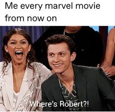 Someone meme Zendayas face please Funny Marvel Memes, Marvel Jokes, Dc Memes, Marvel Dc Comics, Tom Holland, Intensives Training, Marvel Actors, Loki, Disney Marvel