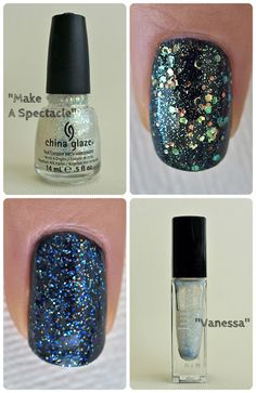 """The Happy Sloths: Glitter Polish Swatch and Reviews: """"Fairy Dust"""", """"Nova"""", """"Make A Spectacle"""", & """"Vanessa"""""""