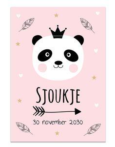Poster met pandabeer