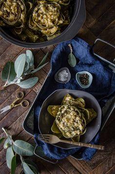 Carciofi Ripieni | Italian Stuffed Artichokes | Chew Town Food Blog
