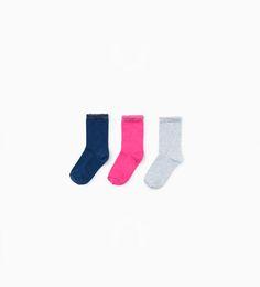 ZARA - KIDS - 3-pack of shiny socks