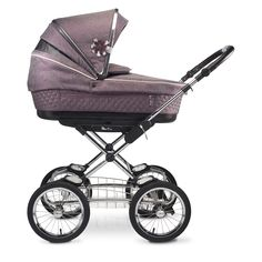 The Silver Cross Sleepover is the perfect blend of classic and contemporary and transports your baby in comfort and style. It's shown here in the Mulberry colour-way.
