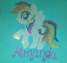Rainbow dash rhinestone shirt