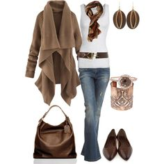 casual outfits - love that this is an outfit without boots, has awesome flats and a sweet belt!