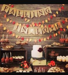 Beautiful table for a Rustic Fall Wedding
