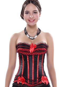 SODAO Women's Bustiers personality Shaper Design Bow Lace Corset 8688 Red / M. 100% New and hight quality. party,celebration,wedding,birthday,dinner,show. Hand wash, don't dry with machine. Standard shipping usually 10-14 days delivery, expedited shipping 3-7 days delivery. Note: Our size is smaller than US size, please choose one size larger than usual before ordering.