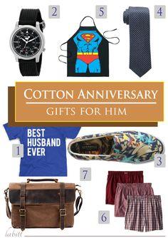 e8d3b0a846e14 Best Cotton Anniversary Gifts He ll Absolutely Love