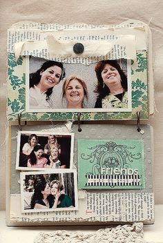 Burlap book pages 4 by kendramccracken, via Flickr