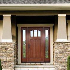 rustic style fiberglass entry doors with sidelights exterior doors