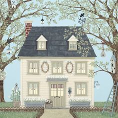 Prints & Canvasses » Country House Signed Giclée Print » Country House Signed Giclée Print - Sally Swannell