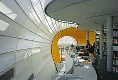 One of the cooles libraries I have visit.  Foster Berlin university library http://www.google.com.tw/blank.html