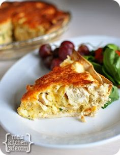 This is a great one for someone who had a baby or  is under the weather. Chicken Quesadilla Pie