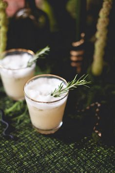The Pear Spice Flip (gin, rosemary, clove, and pear)