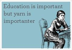 Education is important, but yarn is importanter...