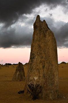 Pinnacle Afterglow by Frank Richardson, The Pinnacles, Nambung National Park, Western Australia