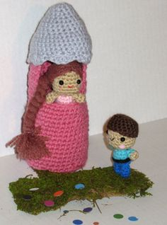 Tangled Rapunzel Tower and Prince Princess Play by indigocrochet, $39.95