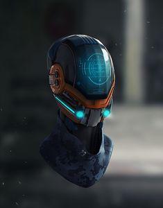 ArtStation - Nº jonn Zavala Futuristic Helmet, Futuristic Technology, Wearable Technology, Technology Gadgets, Robot Concept Art, Armor Concept, Robot Design, Helmet Design, Armadura Sci Fi