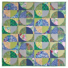Lime & Soda -- very similar to the quilt I just finished for Lars.  I love this palette of blues and greens!