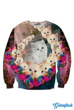 Galaxy Cat Crewneck - - Shop our entire collection of Cat Apparel! www.getonfleek.com