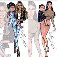 Beyonce and Kim
